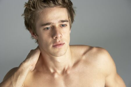 Portrait Of Naked Young Man photo