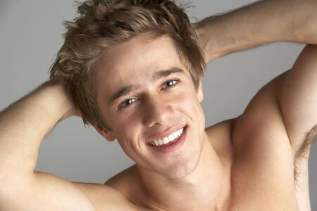 Topless Portrait Of Young Man photo