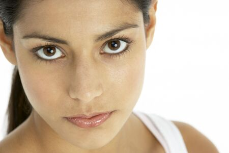 beautiful indian girl face: Portrait of Young woman Stock Photo