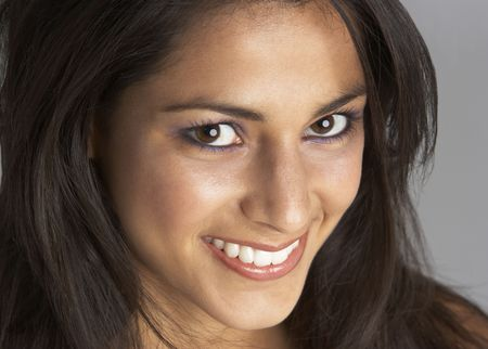 beautiful indian girl face: Studio Portrait Of Smiling Young Woman