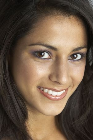 beautiful indian girl face: Portrait Of Smiling Young Woman
