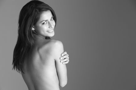Back View Of Naked Woman photo