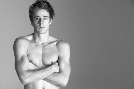 Portrait Of Semi Naked Young Man photo