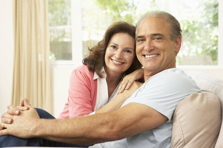 Senior Couple Relaxing At Home Stock Photo - 6453561