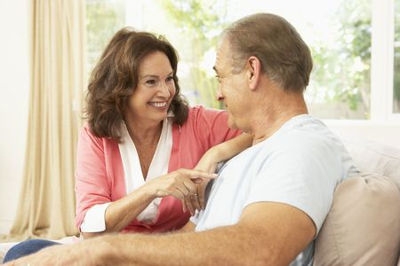 Senior Couple Relaxing At Home Stock Photo - 6452736