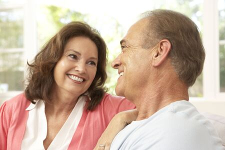 Senior Couple Relaxing At Home Stock Photo - 6452573