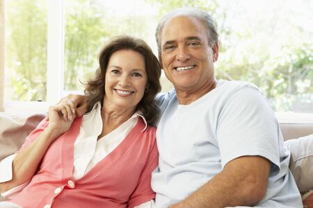 Senior Couple Relaxing At Home Stock Photo - 6453012