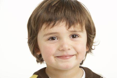 Studio Portrait Of Young Boy photo