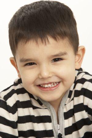 3 year old boy: Studio Portrait Of Young Boy