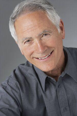 older men: Studio Portrait Of Senior Man Stock Photo
