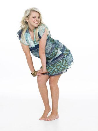 Full Length Portrait Of Blonde Teenage Girl photo