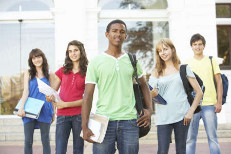 Group Of Teenage Students Standing Outside College Building Stock Photo - 8108570