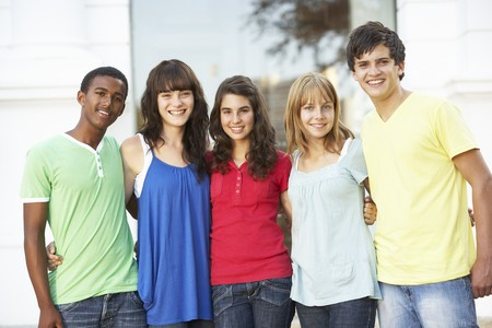 Group Of Teenage Students Standing Outside College Building Stock Photo - 8108657