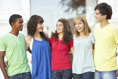 Group Of Teenage Students Standing Outside College Building Stock Photo - 8108692