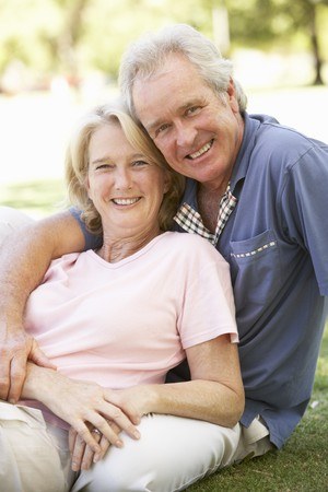 Portrait Of Romantic Senior Couple In Park Stock Photo - 8108663