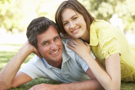 Portrait Of Romantic Couple In Park Stock Photo - 8108583