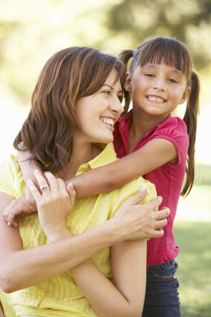 Portrait Of Mother And Daughter Together In Park Stock Photo - 8108666