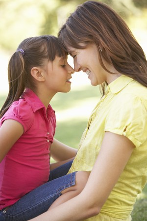 Portrait Of Mother And Daughter Together In Park Stock Photo - 8108580