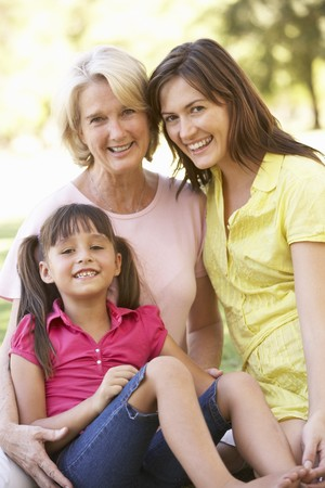 Grandmother With Mother And Daughter In Park Stock Photo - 8108594