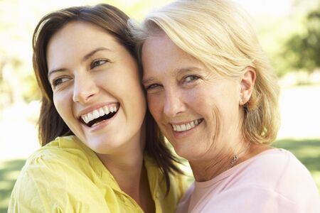 Portrait Of Senior Woman With Adult Daughter Stock Photo - 8108635