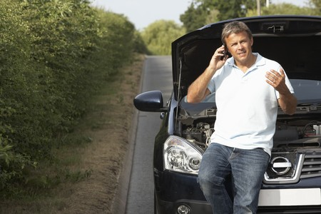 bonnet up: Driver Broken Down On Country Road