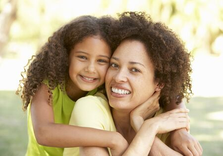 Portrait Of Mother And Daughter In Park Stock Photo - 8108834