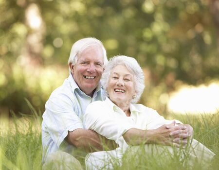older couples: Senior Couple Sitting In Park