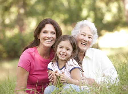 Grandmother With Daughter And Granddaughter In Park Stock Photo - 8483219