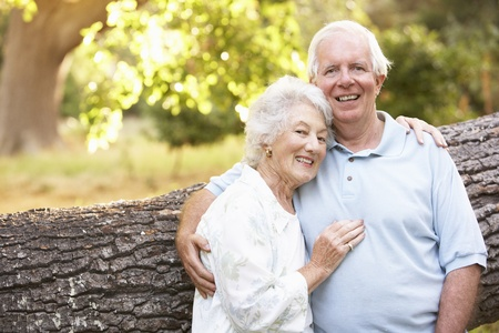 Senior Couple Walking In Park Stock Photo - 8483350