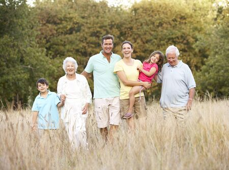 Portrait Of Extended Family Group In Park Stock Photo - 8483234