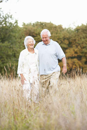Senior Couple Walking In Park Stock Photo - 8483123