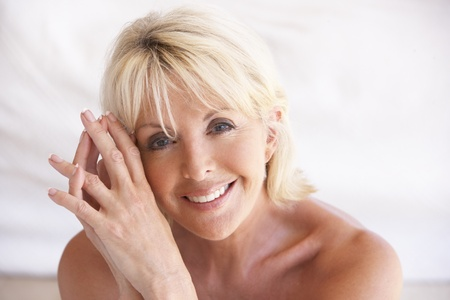 beautiful lady: Portrait Of Attractive Senior Woman Stock Photo