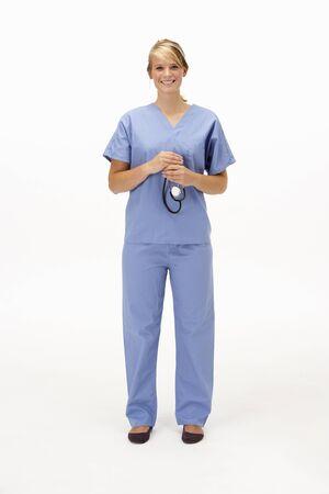 Female medical professional in studio photo