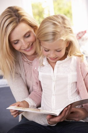 Woman and child reading together Stock Photo - 9197253