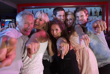 Group Of People Having Fun In Busy Bar Stock Photo - 9911144