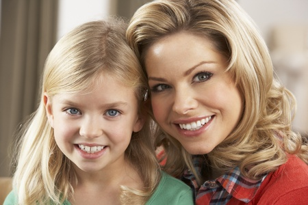 Portrait Of Happy Daughter With Mother