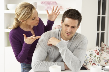 Couple Having Argument At Home Stockfoto