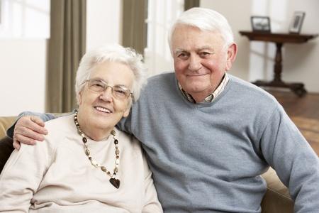 freedom couple: Portrait Of Happy Senior Couple At Home
