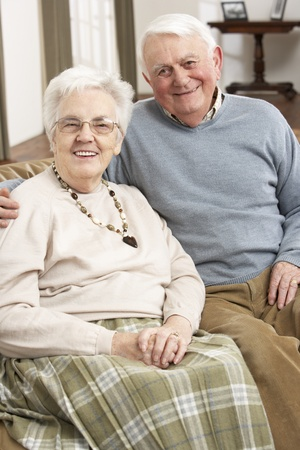 Portrait Of Happy Senior Couple At Home Stock Photo - 9911154