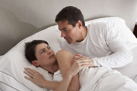 rejections: Couple With Problems Having Disagreement In Bed