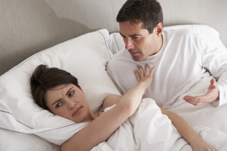 arguement: Couple With Problems Having Disagreement In Bed