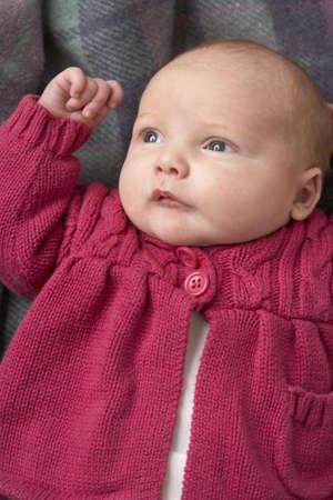 Portrait Of Newborn Baby Girl photo