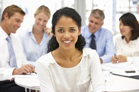 employment: Recruitment office meeting