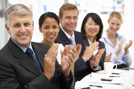 Business people clapping photo