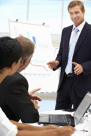 Boardroom meeting: Business presentation
