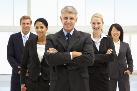 employers: Confident business people