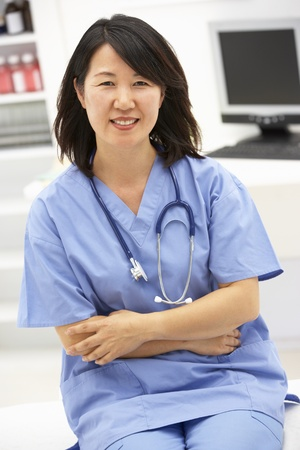 asian office lady: Portrait of medical professional
