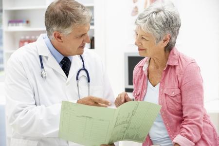 consulta médica: Médico y paciente