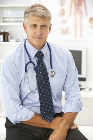 serious doctor: Portrait of doctor Stock Photo