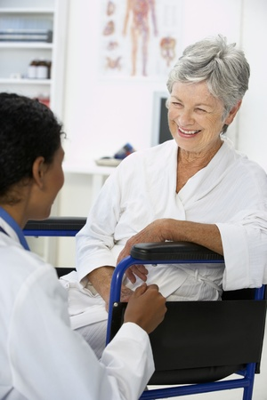 MENOPAUSE: Doctor with female patient